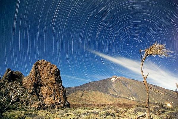 Teide Star Trails by MarcPK