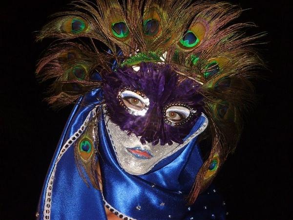 Peacock Mask by TinyBrad
