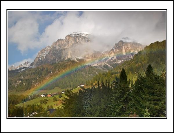 Dolomite Rainbow by ron thomas