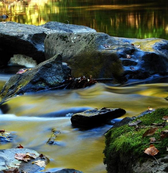 Fall at Stone River by Rainy
