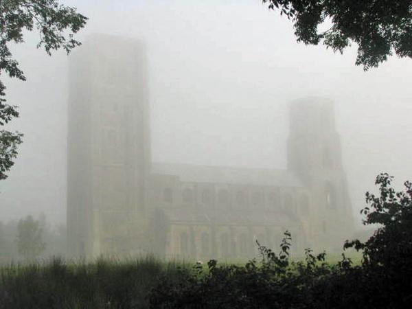 wymondham abbey in the mist by HSTONEY222