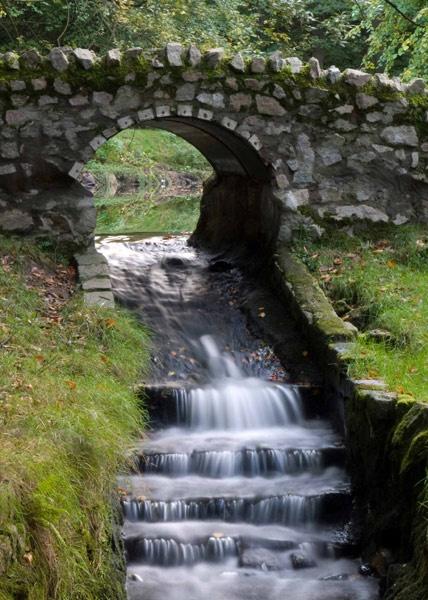 bridge and falls by Woofmix