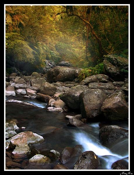 autumn mist by HuHuLin