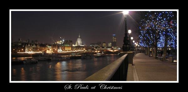 St.Pauls at Christmas by RLB