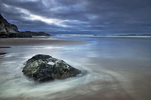 Twilight on Whiterocks Beach by mcsimeyb