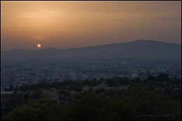 Sunset over Athens 2