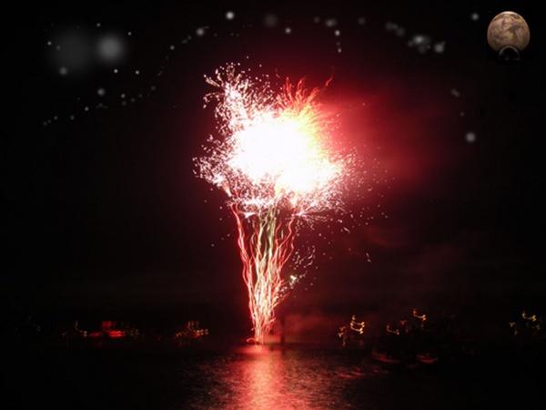Mars with fireworks by adrianj