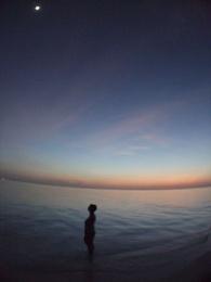 Moon at sunset