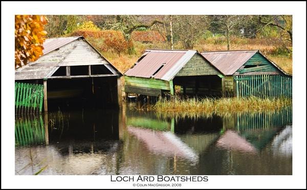 Loch Ard Boatsheds by colin