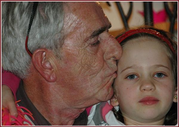 Grandpa\'s Kiss by MickyMc