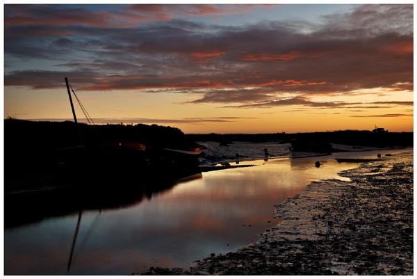Morston Creek at dawn 1 by malleader