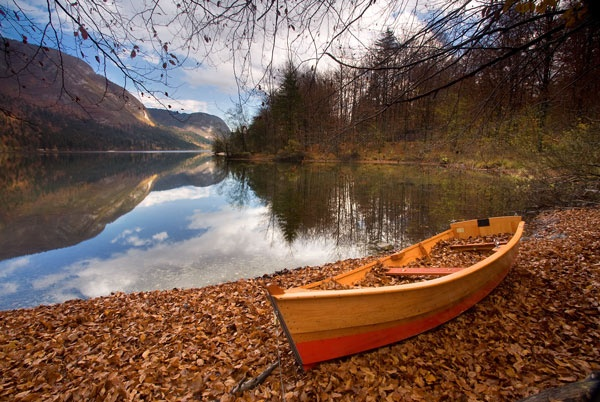 Lake Bohinj Boating by carterart