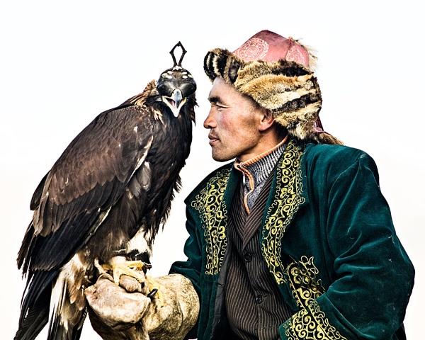 Mongolian Eagle Hunter by Henchard
