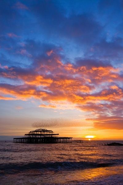 West Pier sunset by richardolivermartin