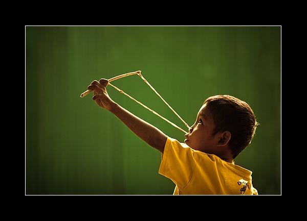 Catapult boy by Rarindra