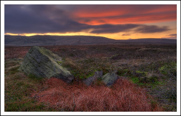 Moorland sunset by AlanTW
