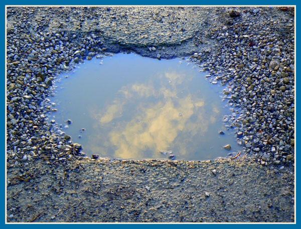 Sky in a puddle by KATJON