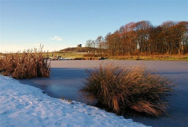 On frozen pond by philstaff