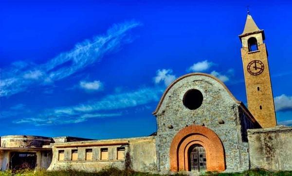 Church on blue sky by russellsnr