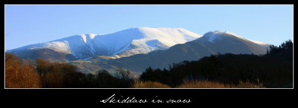 Skiddaw in snow by TheShipsMast