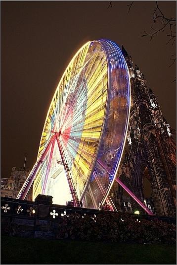 Edinburgh Winterland Big Wheel by icemanonline