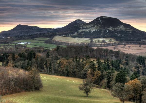 Eildon Hills by jos