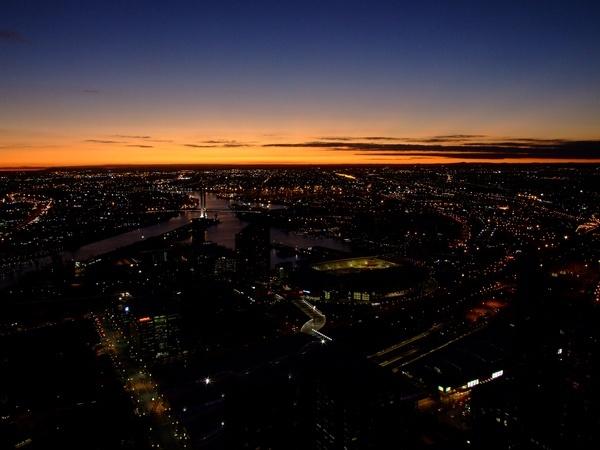 Melbourne Sunset by harlequinarcher