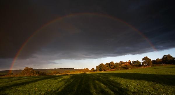 Rainbow over Robin Hoods Stride by ian.daisley