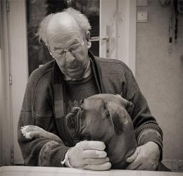 Emiel and his dog