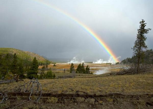 Yellowstone Rainbow by earache55