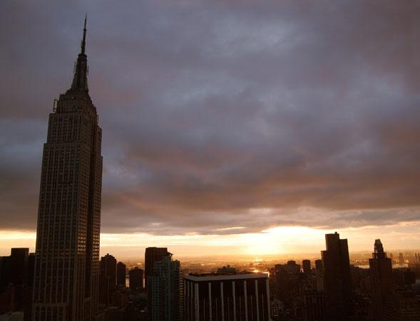 NY Golden Sunrise by danleatherdale
