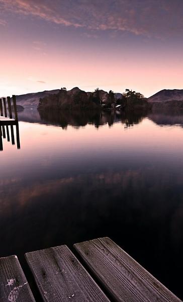 Dawn on Derwentwater by DJLphoto