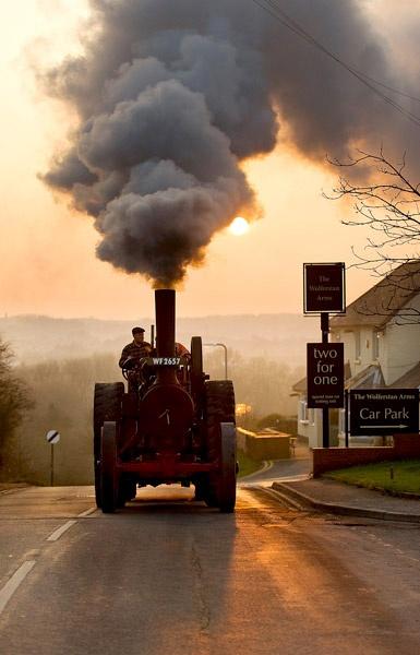 Sunset and steam by PURPLEIDRIS