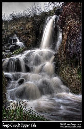 Deep clough upper falls by Deego