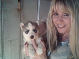 Rhonda & pup by x_posure