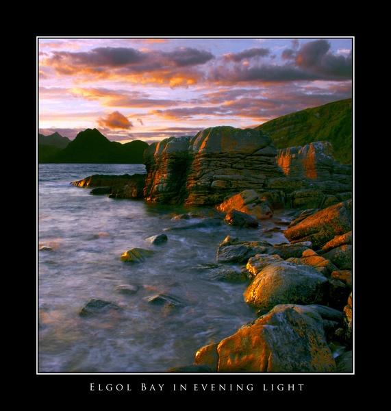Elgol Bay in evening Light by fletchphoto