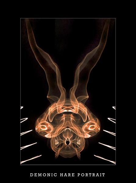 Demonic hare portrait by C_Daniels