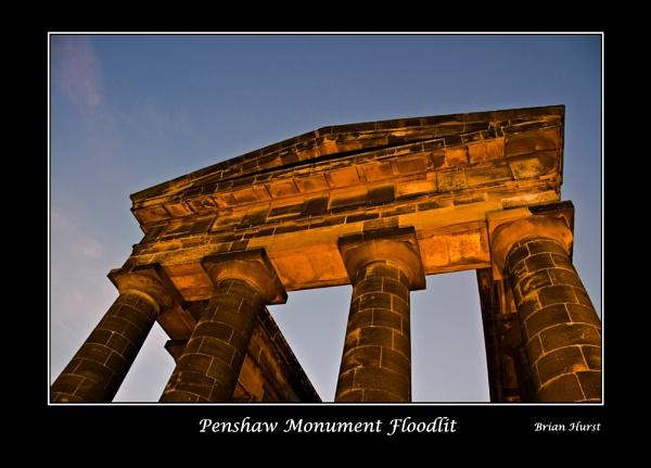 Penshaw Monument Floodlit by peugeot406