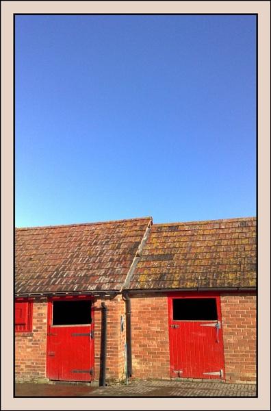 Blue Sky Red Doors by CarlSN