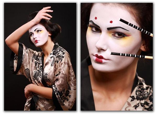 Geisha portrait by scata