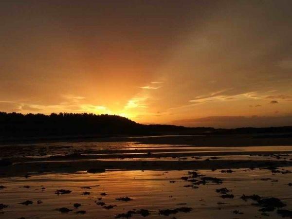 Sunset on Fidra Island by sanjan