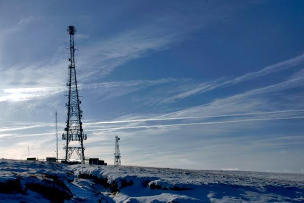 Communications masts on Hameldon Hill by jamesda