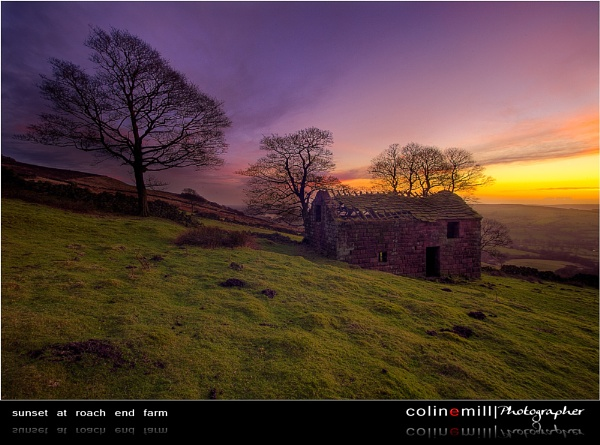 Sunset at Roach End Farm by BigCol