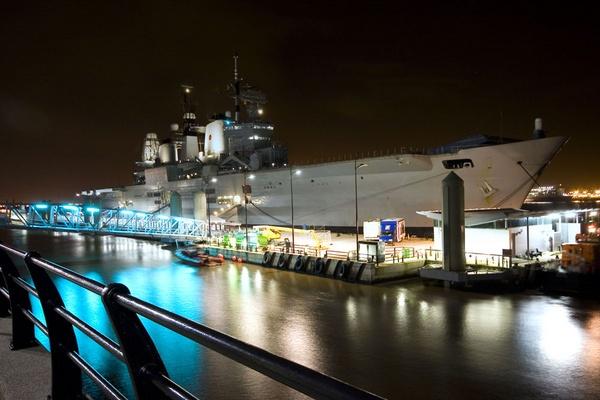 Ark royal at night by jimmin