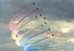 Red Arrows at Farnborough Airshow 2008