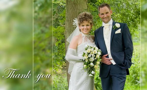 Wedding Thank You Card by Wellspring