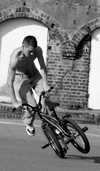 Brighton biker by zimac