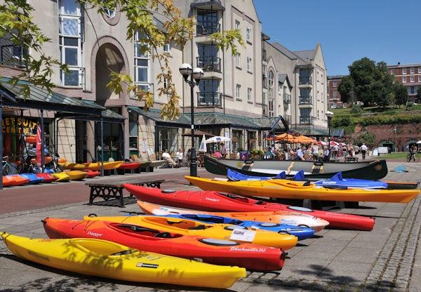 Exeter Piazza Canoes on display by sebroadbent