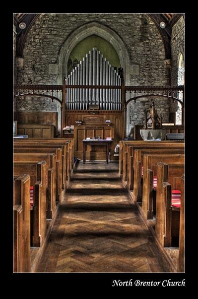 North Brentor Church by Menzabac