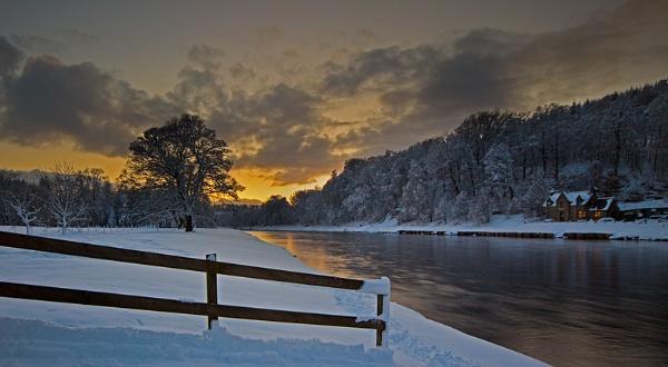 ABERLOUR - THE SPEY IN WINTER by JASPERIMAGE